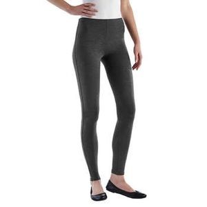French Terry Full Ankle Length Legging Charcoal S